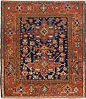 Antique Square Serapi Oriental Rug