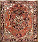 Masterpiece Antique Serapi Oriental Rug