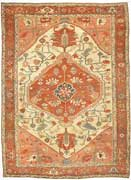 Classic Antique Serapi Persian Rug