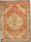 Antique Serapi Persian Carpet