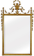 Delicate Formal Gold Mirror