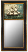Hand-painted Trumeau Mirror
