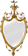 Elegant Shield Mirror