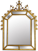 Mirror with Double Gold Border