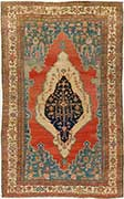 Important Antique Serapi Oriental Rug