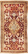 Antique Agra rug