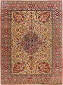 Antique Tabriz Oriental Rug