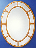 Oval Mirror with Border