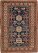 Exquisite Antique Perepedil Caucasian Rug