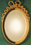 Oval Ribbon Mirror