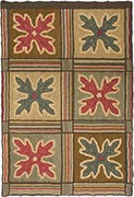 Hand Hooked Rug  - Tiled Oak Leaves