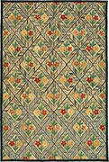 Hand Hooked Rug  - Flower Diamond Tiles