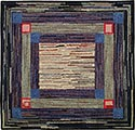 Hand Hooked Rug - Concentric Frames
