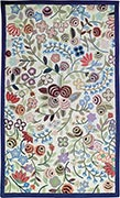 Hand Hooked Rug - Flowered Walk II