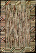 Hand Hooked Rug - Zig Zags and Stripes