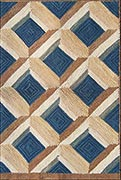 Hand Hooked Rug  - Criss-cross Lattice