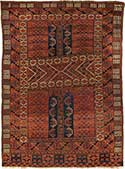 Antique Turkmen Oriental Rug