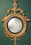Convex Regency Mirror