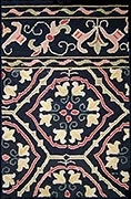 Hand Hooked Rug  - Persian Tile