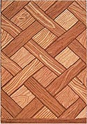 Hand Hooked Rug  - Country Oak Parquet