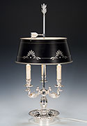 Bouillotte Lamp Silver Plated