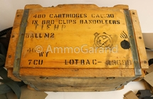 Original 1945 WWII Remington Arms Ammunition Crate - EMPTY