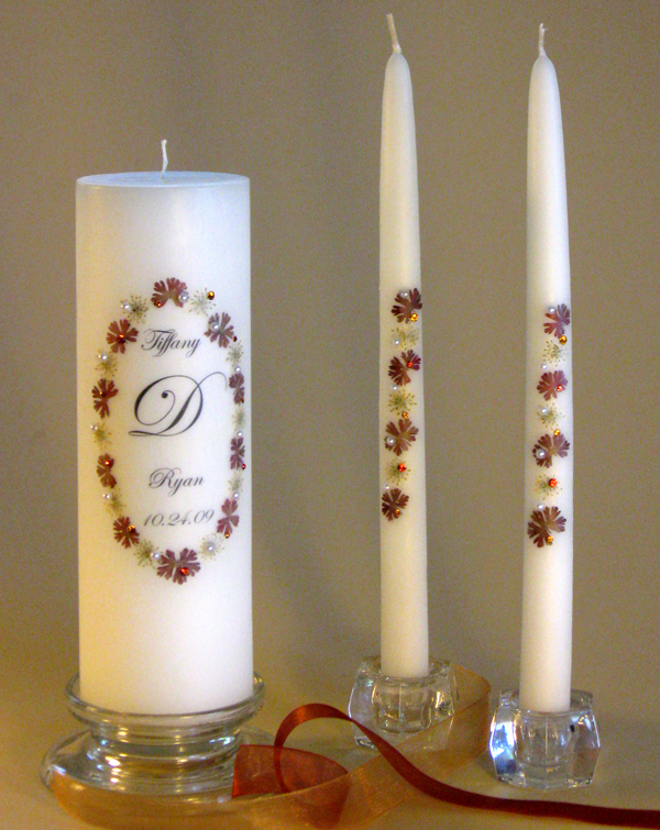 Fall Autumn Unity Candles 16 Designs