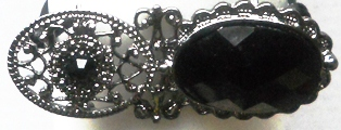 Black Filigree Brooch