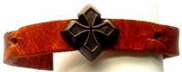 Leather Brass Cross