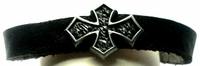 Leather Gothic Cross