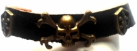 Leather Skull Cross Shields