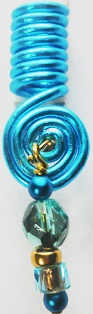 Hair Coil Charm Turquoise 3