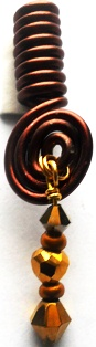 Hair Coil Charm Brown 2