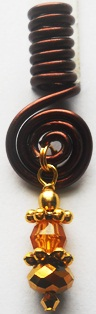 Hair Coil Charm Brown 3