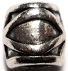 Eye See Silver Hair Bead Cuff