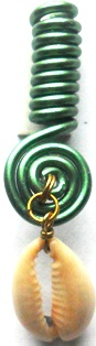Cowrie Shell Coil Green