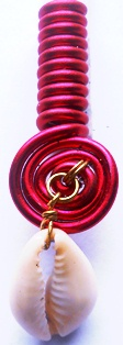 Cowrie Shell Coil Red