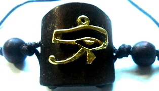 Eye of Heru Loc Ponytail Holder