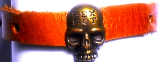 Skull Sex Pot Leather Band
