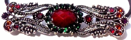 Ruby Filigree Brooch