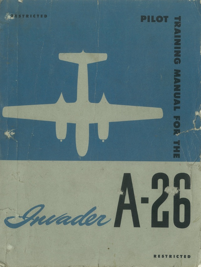 Pilot training manual for the Invader, A-26