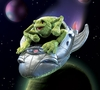 Folkmanis Puppet <br>Frog in Spaceship