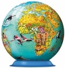 Ravensburger <br>108 Piece Puzzleball <br>Children's World Map