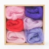 Wool Pets <br>Wool Roving <br>Fuschia Flowers