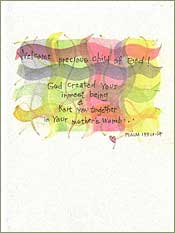 Child of God Baby Greeting Card