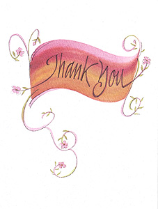 Thank You Appreciation Greeting Card