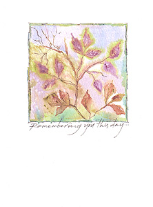 Coleus Plant Greeting Card, set of 6 blank notes