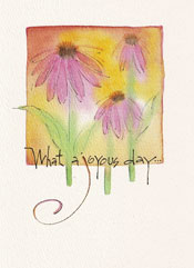 Coneflowers Birthday Greeting Card