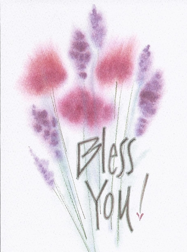 Bless You! Appreciation Greeting Card, message inside