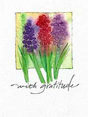With Gratitude Appreciation Greeting Card